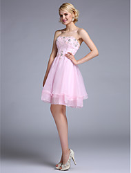 TS Couture® Cocktail Party Dress A-line Strapless Knee-length Organza with Beading