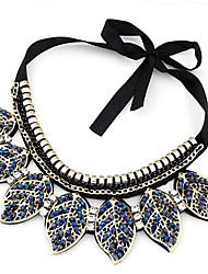 Women's Pendant Necklaces Collar Necklace Crystal Crystal Alloy Adorable Blue Jewelry Party Daily Casual 1pc
