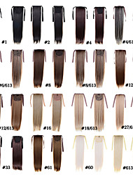Fashion Women's Ponytail Hairpieces 50cm 22inch 100g Synthetic Hair Extensions Drawstring Long Straight 15 Colors
