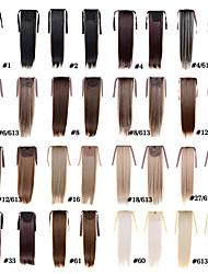 rabo de cavalo de moda feminina postiços 50 centímetros 22inch 100g extensões de cabelo sintético cordão longa reta 15 cores