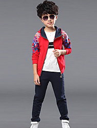 Boy's  Cotton Spring/Fall Clothes Sets Hoodies & Pant Long Sleeve Kid Boy Tracksuit Sport Suit Two-Piece Set