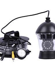 Системы видеонаблюдения безопасности 20 метров 0-360 ° 12pcs ИК-светодиодов видеокамеры подводная рыбалка рыбообнаружитель видеокамеры