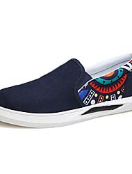 MasculinoConforto-Rasteiro-Azul / Preto e Vermelho / Preto e Branco-Tecido-Casual