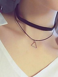 Necklace Choker Necklaces Jewelry Daily / Casual Sexy / Fashionable Alloy / Lace Black-White 1pc Gift