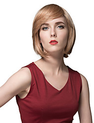 Blonde Bob Hairstyle Human Hair Monofilament Top 10 inches