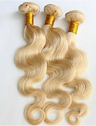 "3Pcs/Lot 8""-34"" Color 613 Blonde Brazilian Body Wave Bleach Blonde Brazilian Hair  Human Virgin Hair Weft Weaves"