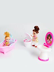 кукла подарочный набор большие игрушки из трех частей моделирования аксессуары для ванной комнаты туалет биде дети играют дома без ребенка