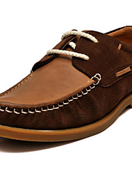 Men's Clogs & Mules Leather Casual Low Heel Others Brown / White Walking