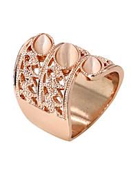 Anéis Fashion Pesta / Diário / Casual Jóias Liga / Zircão / Opala Feminino Anéis Grossos 1pç,8 Dourado