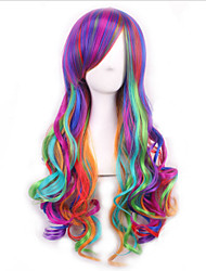 European And American Popular Cartoon Color Gradient Harajuku Multicolor COS Wig
