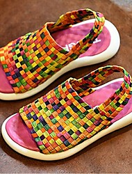 Boys' Shoes Casual Fabric Slippers Summer Slippers / Open Toe Others Black / Yellow / Green / Pink