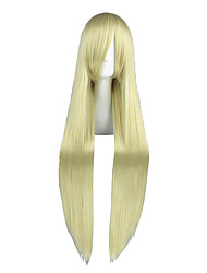 Cosplay Wigs Angel Sanctuary White Russia Natalia Alfroskaya Golden Long Anime Cosplay Wigs 100 CM Heat Resistant Fiber Male / Female