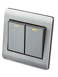commutateur socket 86 caché de type brossé décoration en acier inoxydable