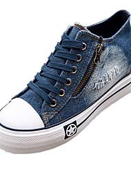 DamenOutddor / Lässig-Denim Jeans-Keilabsatz-Komfort / Rundeschuh / Geschlossene Zehe-Blau