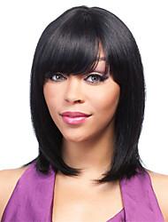 черный цвет косплей синтетические парики дешевые прямые парики парики