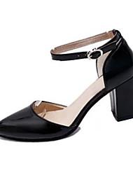 Черный / Розовый / Серый-Женский-На каждый день-Полиуретан-На толстом каблуке-На каблуках-Обувь на каблуках