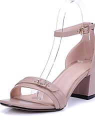 Черный / Розовый / Бежевый-Женская обувь-Для праздника / На каждый день / Для вечеринки / ужина-Телячья шерсть-На шпильке-На каблуках / С