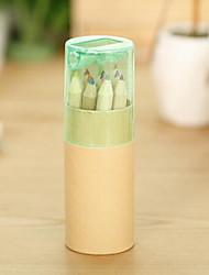 12 cores de lápis de madeira com sharpener