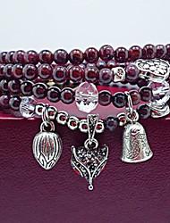 Fashionable Crystal 66cm Round Strand Bracelets
