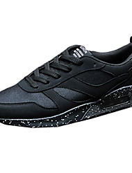 scarpe da donna di Tulle primavera / autunno scarpe punta rotonda casuale piatti tacco altri / lace-up giallo / rosso / grigio /