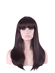 Natural Hair Wig Peruca Pelucas Long Pelo Bangs Perruque Women Synthetic Wigs Wigs Pelucas Sinteticas