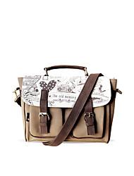 Flower Princess® Women Canvas Shoulder Bag Coffee-YD1212001