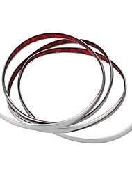 Silver Car Chrome Styling Decoration Moulding Trim Strip 15mm