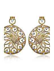 Earring Round Drop Earrings Jewelry Women Fashion Wedding / Party / Daily / Casual / N/ACubic Zirconia / Copper / Platinum Plated / Gold