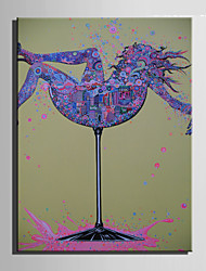 E-HOME® Stretched Canvas Art Abstract Goblet Woman Decoration Painting  One Pcs