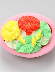 moldes de silicone manhã glória de chocolate, moldes de bolo, moldes de sabão, ferramentas de decoração bakeware