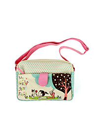 Flower Princess® Women Canvas Shoulder Bag Pink-A201110233