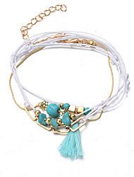 Bracelet Chaînes & Bracelets / Charmes pour Bracelets / Bracelets de rive / Bracelets Wrap / Loom Bracelet Alliage / Dentelle / Turquoise