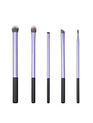 5PCS/ set Natural Hair Eye Makeup Brushes Set Professional Eyeshadow Brush For  Makeup shadow make up Brushes Tool