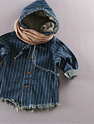 Boy's Cotton Trench Coat,Fall Solid