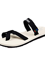 Women's Shoes PU Summer Flip Flops Sandals Casual Flat Heel Others Black / Pink / White