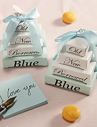 Recipient Gifts - 1Pcs/Set, Something Blue Memo Notepad Wedding Gifts, Bridesmaids Shower Favors