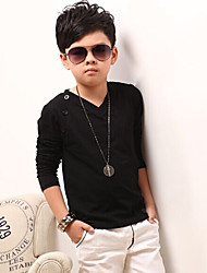 Boy's Cotton Spring/Fall Fashion V-neck Warranted Long-sleeved  T-shirt