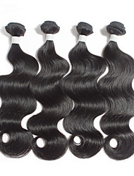4 Bundles Brazilian Virgin Hair Cheap Brazilian Silk Straight Hair Products Brazilian Hair Weave Bundles 100% Human Hair