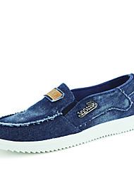 Men's Flats Spring / Fall Comfort Fabric Casual Flat Heel Others Blue / Navy Walking