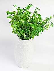 "13.8"" Plastic Artificial Plants Clover Simulation Lucky Grass Four Leaf Clover Home Decoration 2pcs/set"