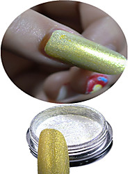 Jóias de Unhas / Purpurina & Pó-Casamento- paraDedo- deOutro- com1 bottle powder+1 eye shadow brush-2.6*2.6cm