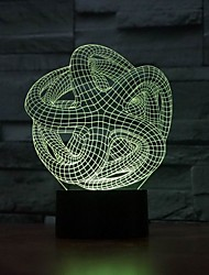 Amazing 3D Illusion led Table Lamp Night Light with abstraction shape Color-Changing Night Light