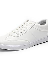 Herren-Flache Schuhe-Sportlich-PU-Flacher Absatz-Komfort-Schwarz Weiß