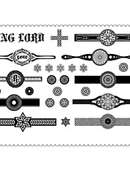 5PCS Fashion Ring Lord Body Art Waterproof Temporary Tattoos Sexy Tattoo Stickers (Size: 3.74'' by 5.71'')