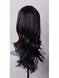 Cheap Popular Synthetic Wigs 70 cm Black Color Full Cosplay Wig