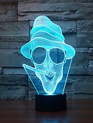 своеобразные 3d абстрактные лампы стол форма искусства скульптуры огни украшения комнаты изменения цвета свет ночи