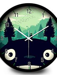 Cute Cartoon Classic Chinchilla Mountain Children Tenants Hall Metal Mute Quartz Wall Clock