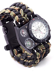 Umbrella Rope Braided Strap Outdoor Sports Men Watch