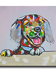 High Skills Artist Hand-painted Dog Oil Painting On Cavas With Frame Abstract Painting For Office Decoration