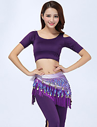 Belly Dance Outfits(Tops+Pants+Waist-Chain) Women's Performance Modal Tassel 3 Pieces Green / Orange / Purple